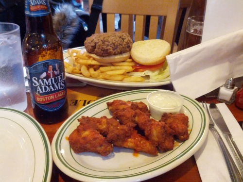 Burgers, wings and American ale